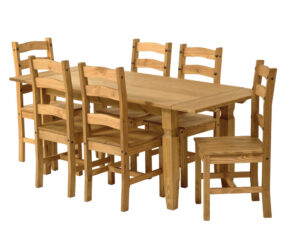 RECTANGLE  DINING TABLE X 6 CHAIRS