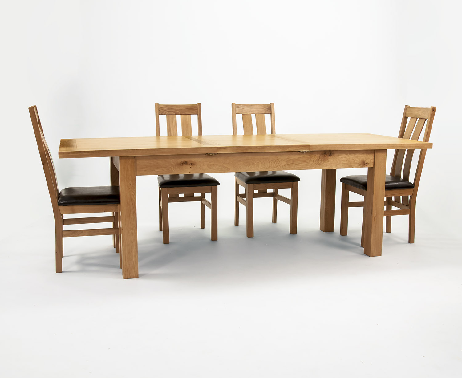 Solid Oak Extend Table 78x180 6 Chairs Furniture Jungle