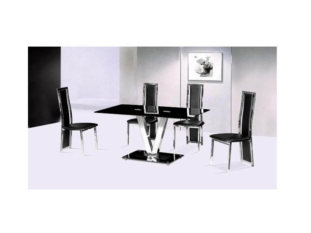 HOLLY V DINING TABLE 160M BLACK