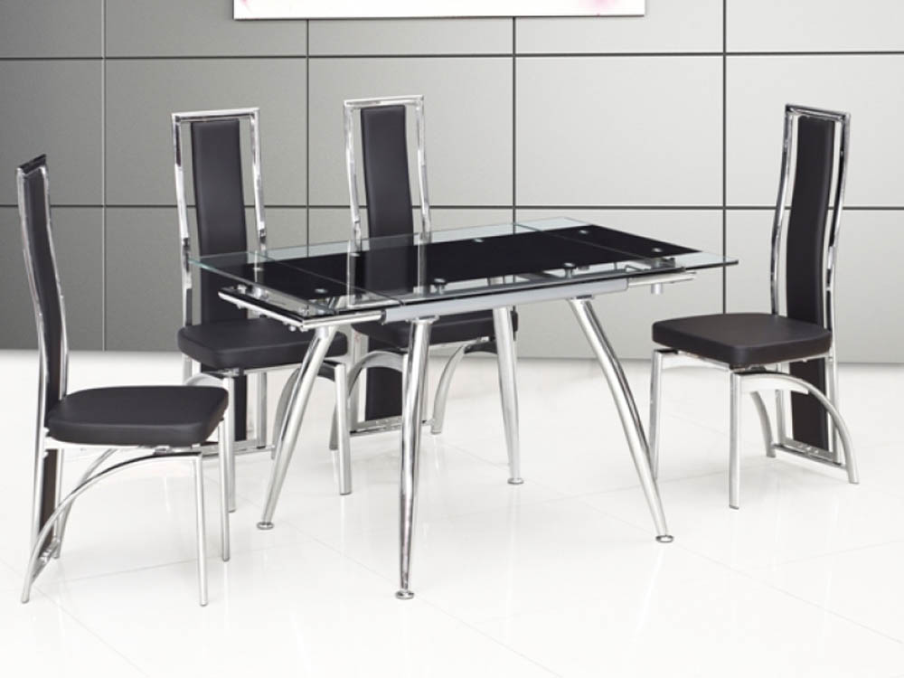 MICHA DINING TABLE 125 EXTEND BLACK