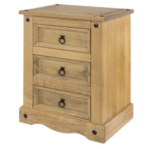 3 Drawer Bedside Cabinet.
