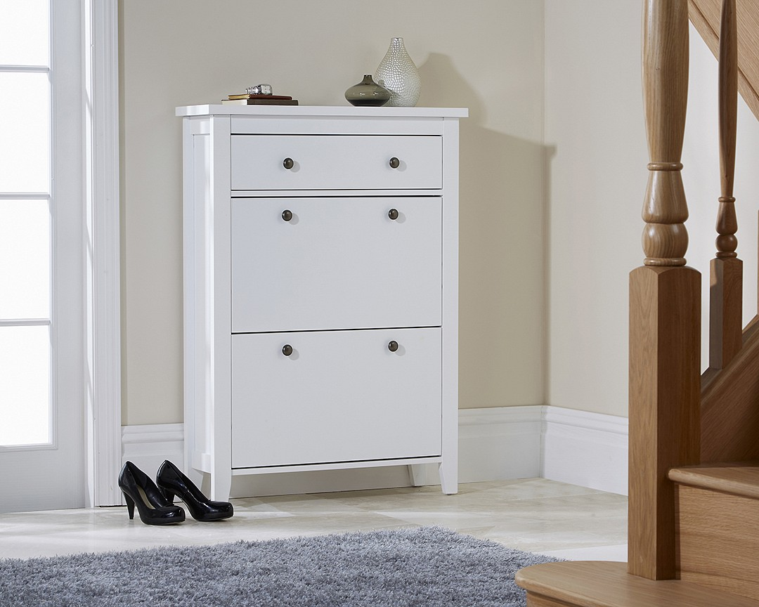 DELUXE TWO TIER SHOE CABINET.
