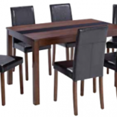 ASHLEIGH MEDIUM TABLE + 4 CHAIRS.