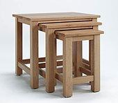 DENSLEY OAK NEST OF TABLES.