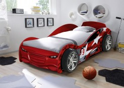 TWIN TURBO CAR RACER BED.