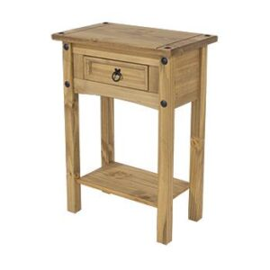 1 DRAWER HALL TABLE WITH SHELF.