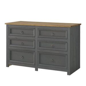 3+3 DRAWER WIDE CHEST.
