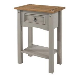 1 DRAWER GREY HALL TABLE.