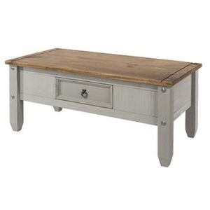 GREY COFFEE TABLE.