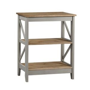 3 TIER GREY WIDE SHELF.