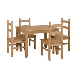 DINING TABLE 1180mm WITH 4 CHAIRS.