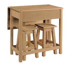 BREAKFAST DROP LEAF TABLE  WITH 2 STOOLS.