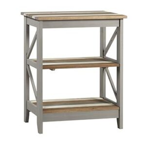 3 TIER WIDE SHELF UNIT.