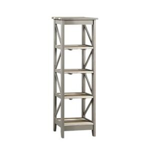 5 TIER NARROW SHELF UNIT.