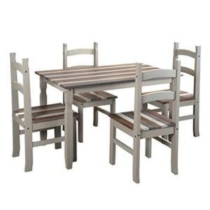 RECTANGULAR DINING TABLE. + 4 CHAIRS.