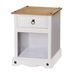 1 DRAWER PETITE BEDSIDE WHITE CABINET