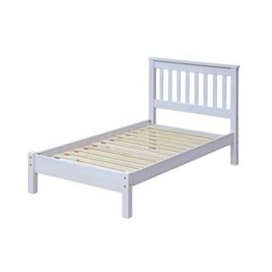 3' WHITE SLATTED LOWEND BEDSTEAD.