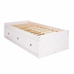 WHITE CABIN BED.