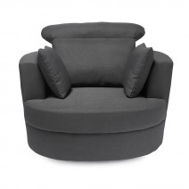 BLISS SWIVELL CHAIR LARGE GREY.