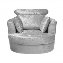BLISS SWIVELL CHAIR LARGE SILVER.