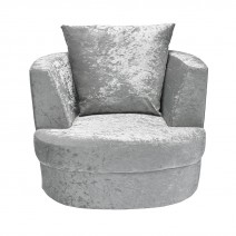 BLISS SWIVELL CHAIR SMALL SILVER.