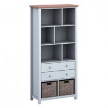 COTSWOLD GREY BOOKCASE.