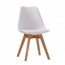 LOUVRE DINING CHAIRS X 2 WHITE.