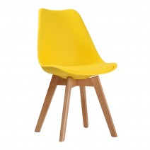 LOUVRE DINING CHAIRS X 2 YELLOW.