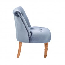 LYDIA OCCASIONAL CHAIR SILVER.