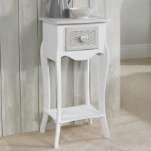 1 DRAWER BEDSIDE CABINET.