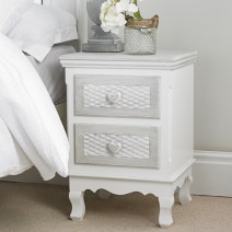 2 DRAWER BEDSIDE CABINET.