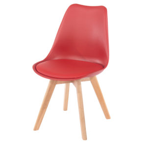 ASPEN PU PADDED CHAIRS X 2 RED.