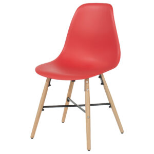 ASPEN PLASTIC CHAIRS RED X 2