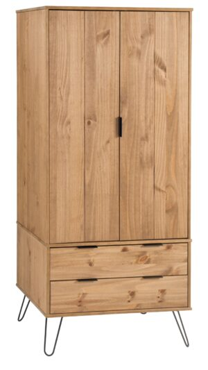 AUGUSTA 2 DOOR 2 DRAWER WARDROBE.