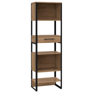 BROOKLYN TALL NARROW BOOKCASE.