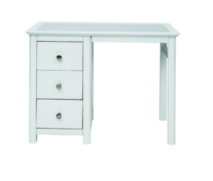 STIRLING SINGLE PEDESTAL DRESSING TABLE.