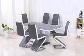 ALDRIDGE DINING CHAIRS GREY X 2