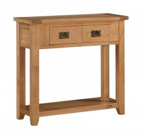 DENSLEY OAK CONSOLE TABLE.