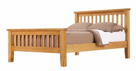 BROCTON SOLID OAK BEDROOM SET.