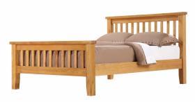 BROCTON SOLID OAK BEDROOM SET.