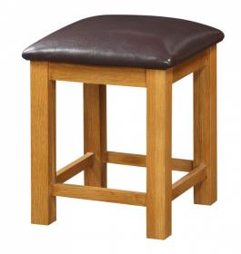 BROCTON SOLID OAK DRESSING TABLE STOOL.