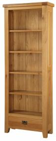 BROCTON SOLID OAK LARGE BOOKCASE.