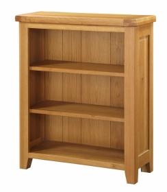 BROCTON SOLID OAK BOOKCASE SMALL.