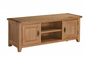 DENSLEY OAK TV UNIT STRAIGHT.