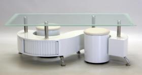 BOULE COFFEE TABLE WHITE.