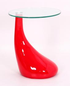 CHILTON LAMP TABLE RED.
