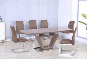 AZORE EXTENDABLE DINING TABLE.