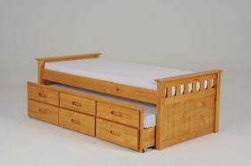 CAPTAINS BUNK BED WITH STORAGE AND GUEST BED.