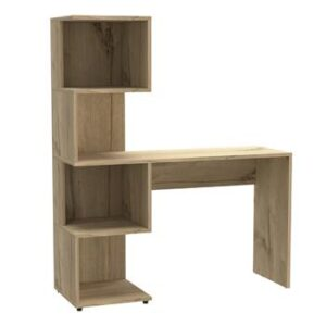 BROOKLYN TALL DESK WITH SHELVING.