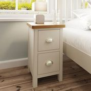 SMALL BEDSIDE CABINET DOVE GREY.